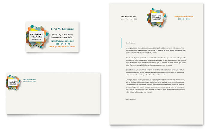 Writer's Workshop Business Card & Letterhead Template - Word & Publisher