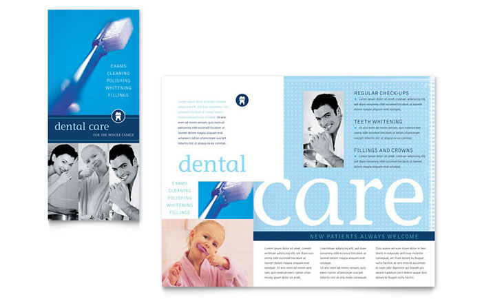 Dentist office brochure template word publisher for Free template for brochure microsoft office