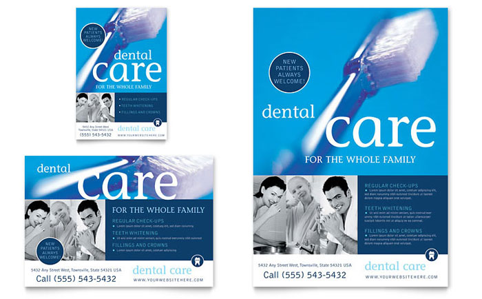microsoft office leaflet template - dentist office flyer ad template word publisher