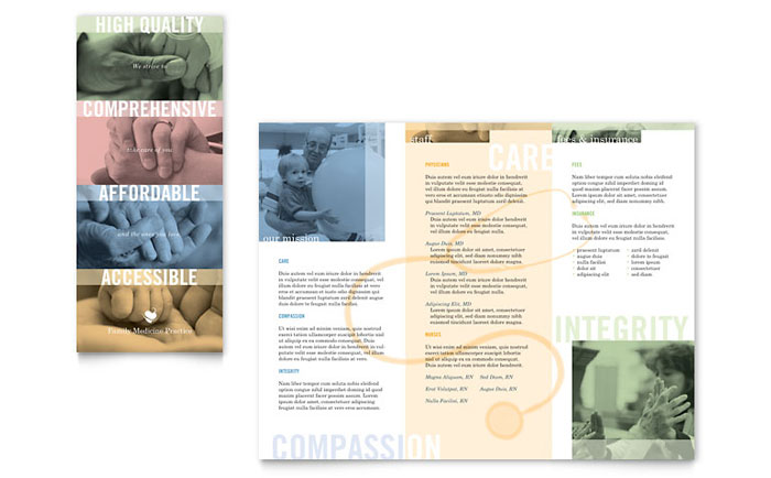 Family Doctor Brochure Template - Word & Publisher