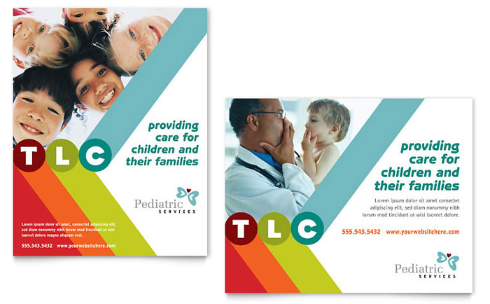 Pediatrician & Child Care Poster Template - Word & Publisher
