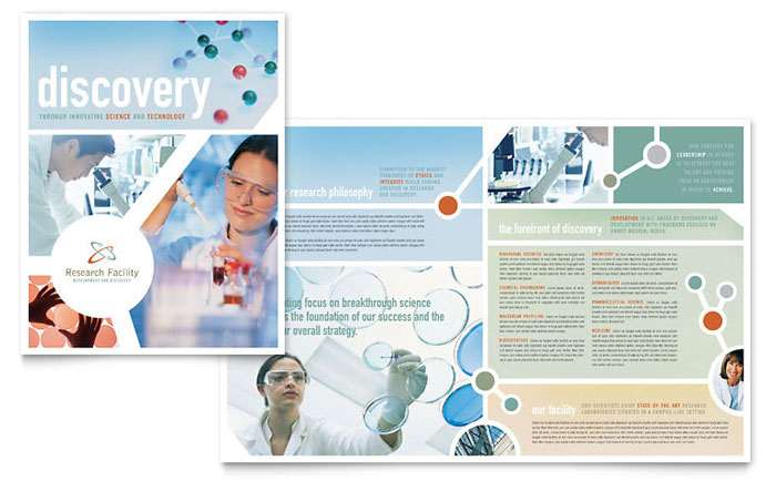 Medical Research - Brochure Templates - Word & Publisher