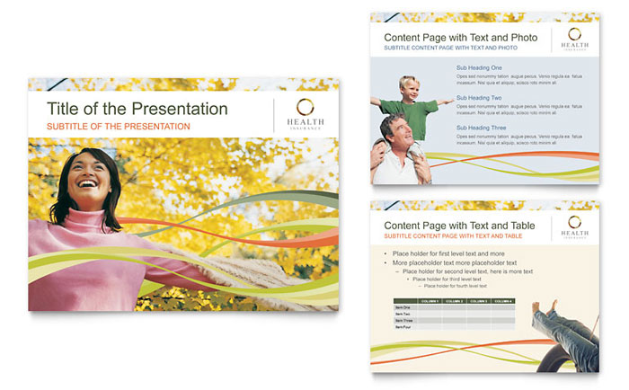 Health Insurance Company PowerPoint Presentation Template - PowerPoint
