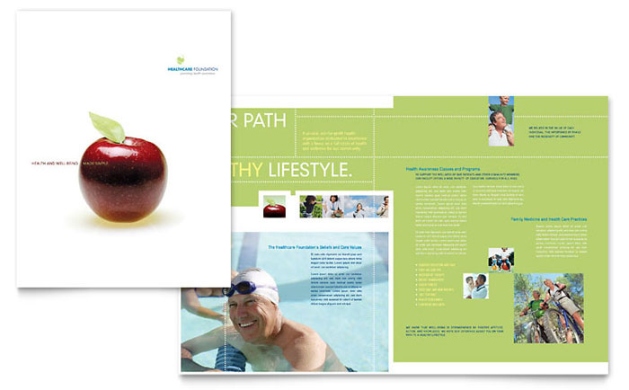 Healthcare Management Brochure Template - Word & Publisher