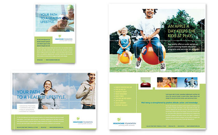 Healthcare Management Tri Fold Brochure Template Word Publisher – Health Brochure Template
