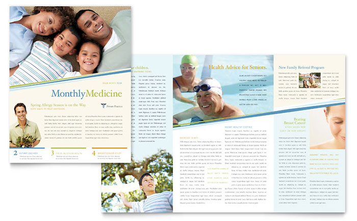 Family Physician Newsletter Template - Word & Publisher