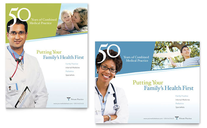 Family Physician Poster Template - Word & Publisher