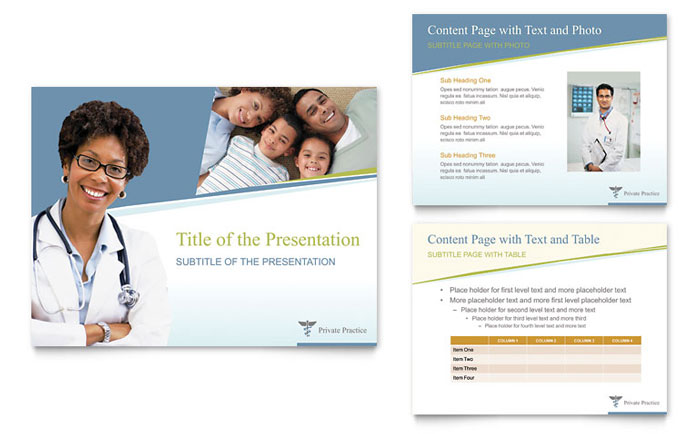 Family Physician PowerPoint Presentation Template - PowerPoint