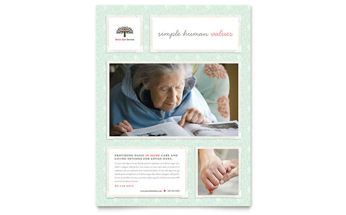 Senior Care Services Flyer Template - Word & Publisher