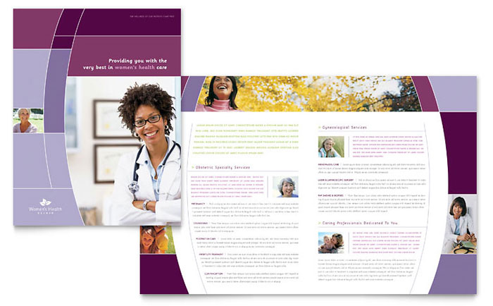 Women's Health Clinic Brochure Template - Word & Publisher