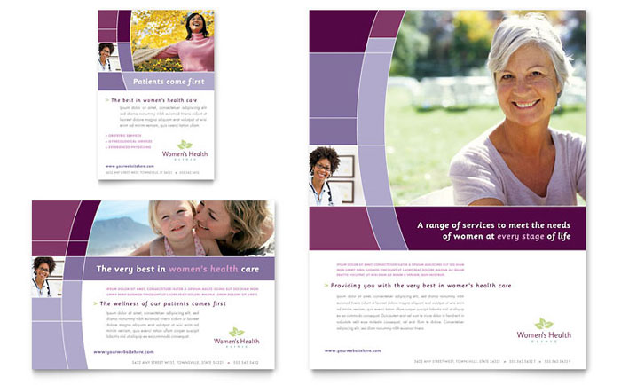 Women's Health Clinic Flyer & Ad Template - Word & Publisher
