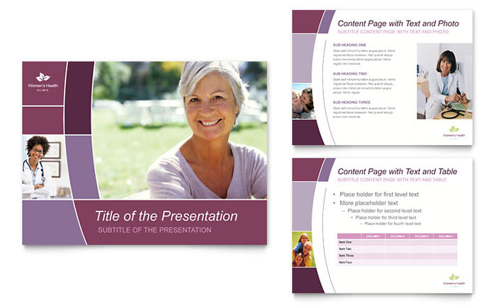 Women's Health Clinic PowerPoint Presentation Template - PowerPoint