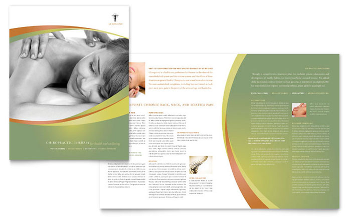 Massage & Chiropractic Brochure - Word Template & Publisher Template