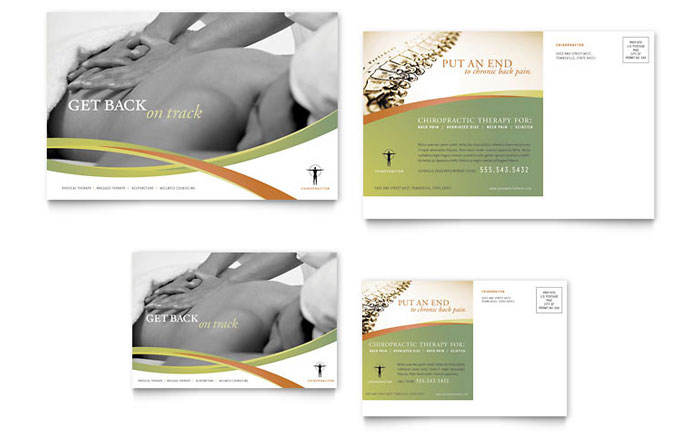 Massage & Chiropractic Postcard Template - Word & Publisher