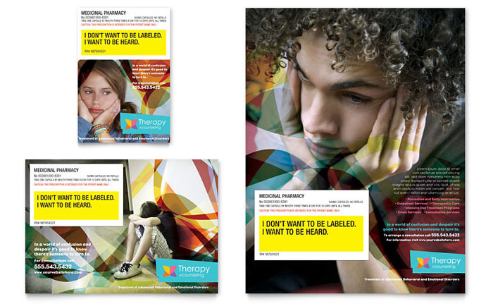 Adolescent Counseling Flyer & Ad Template - Word & Publisher
