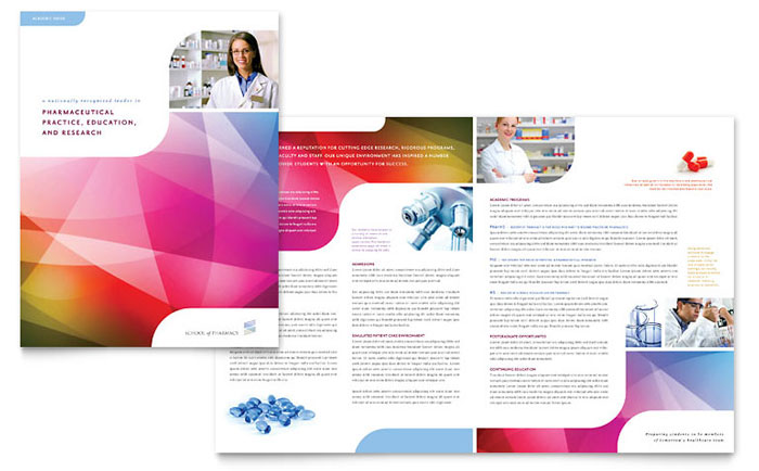 Pharmacy school brochure template word publisher for Microsoft templates brochures