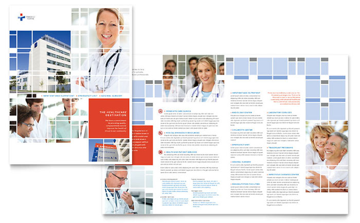 Medical & Health Care - 11x17 Brochure Templates - Word & Publisher