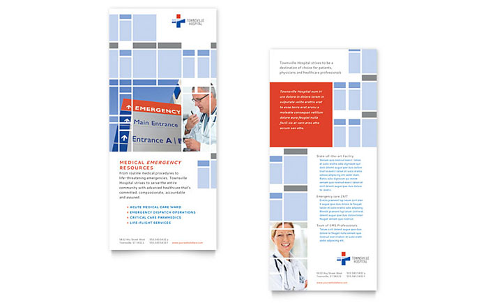Hospital Rack Card Template - Word & Publisher