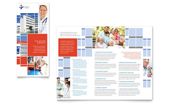 microsoft publisher tri fold brochure templates - hospital tri fold brochure template word publisher