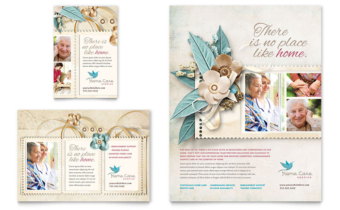 Hospice & Home Care Flyer & Ad Template - Word & Publisher