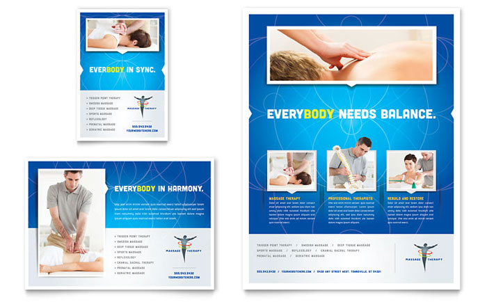 Reflexology & Massage Flyer & Ad Template - Word & Publisher