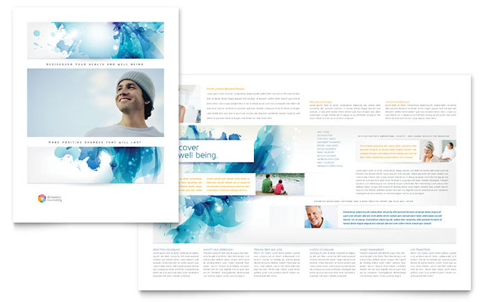 Behavioral Counseling Brochure Template - Word & Publisher