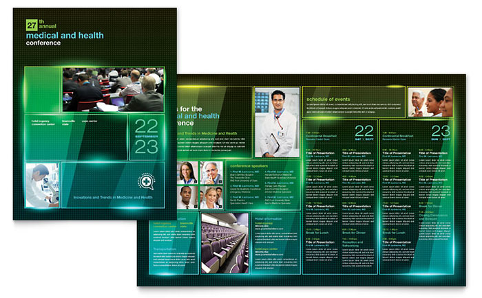 Medical conference brochure template word publisher for Microsoft works templates brochure