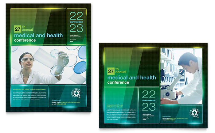 Medical Conference Poster Template - Word & Publisher