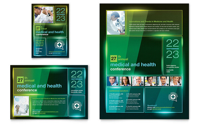 Medical Conference Flyer & Ad Template - Word & Publisher