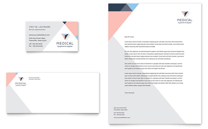 Home Medical Equipment Business Card & Letterhead Template - Word & Publisher