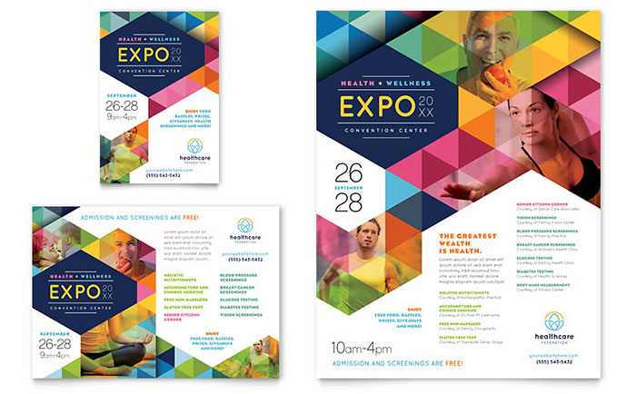 Health Fair Flyer & Ad Template - Word & Publisher