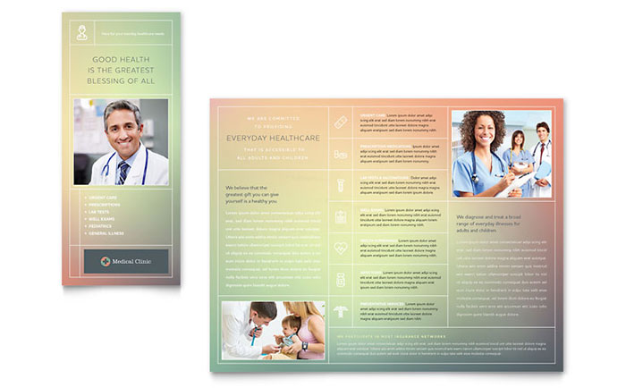Medical clinic brochure template word publisher for Medical office brochure templates