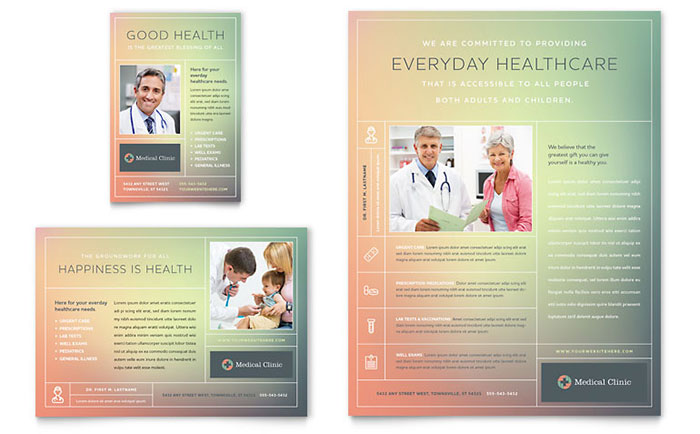 Medical Clinic Flyer & Ad Template - Word & Publisher