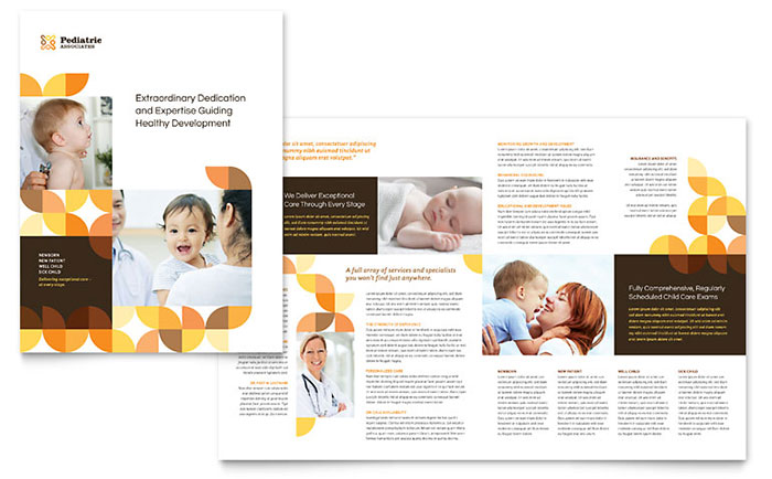 Pediatric doctor brochure template word publisher for 11x17 half fold brochure template