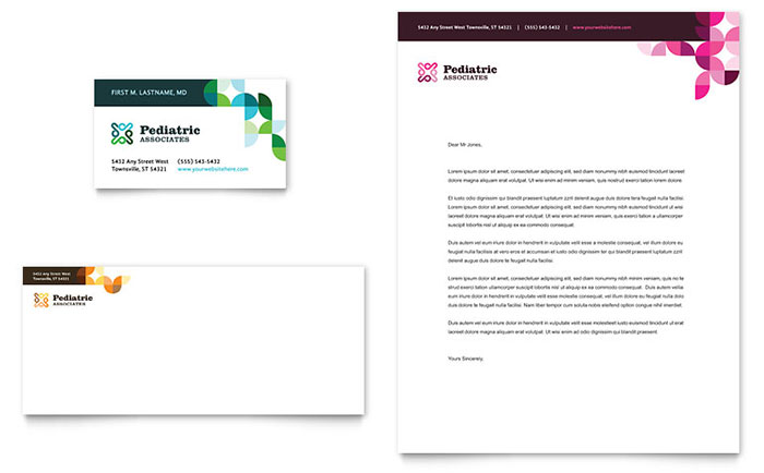 Pediatric Doctor Business Card & Letterhead Template - Word & Publisher