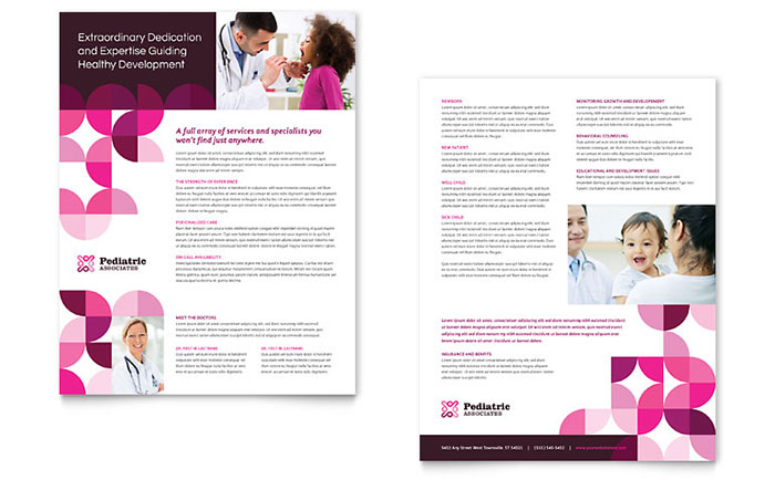 Pediatric Doctor Datasheet Template - Word & Publisher