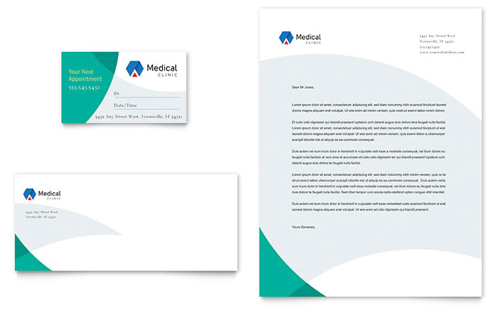 Doctor's Office Business Card & Letterhead Template - Word & Publisher