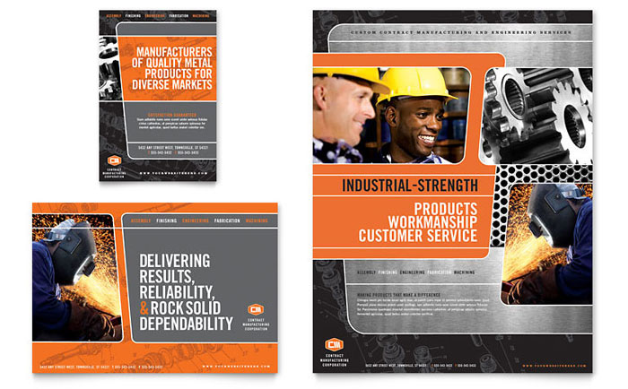 manufacturing engineering flyer  u0026 ad template