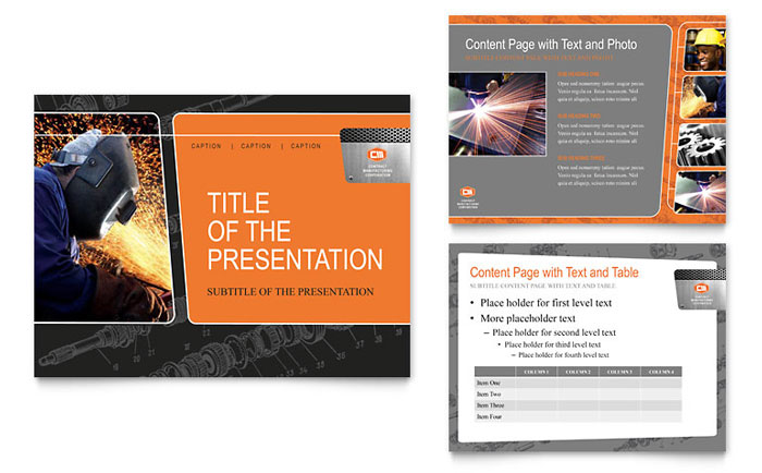 Manufacturing Engineering PowerPoint Presentation Template - PowerPoint