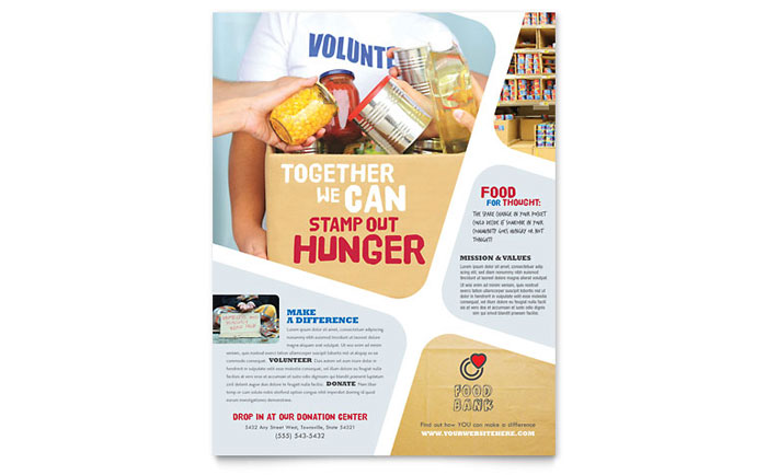 Food Bank Volunteer Flyer Template - Word & Publisher