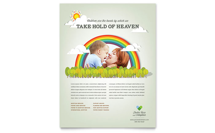 Foster Care & Adoption Flyer Template - Word & Publisher