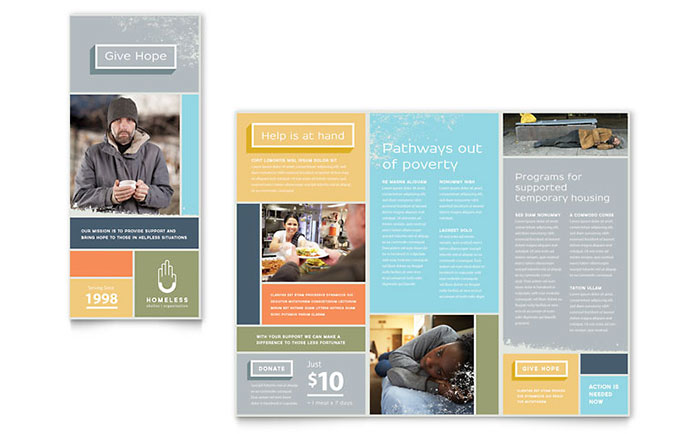 Homeless Shelter Brochure Template - Word & Publisher