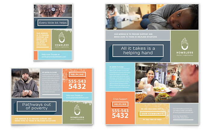 Homeless Shelter Flyer & Ad Template - Word & Publisher