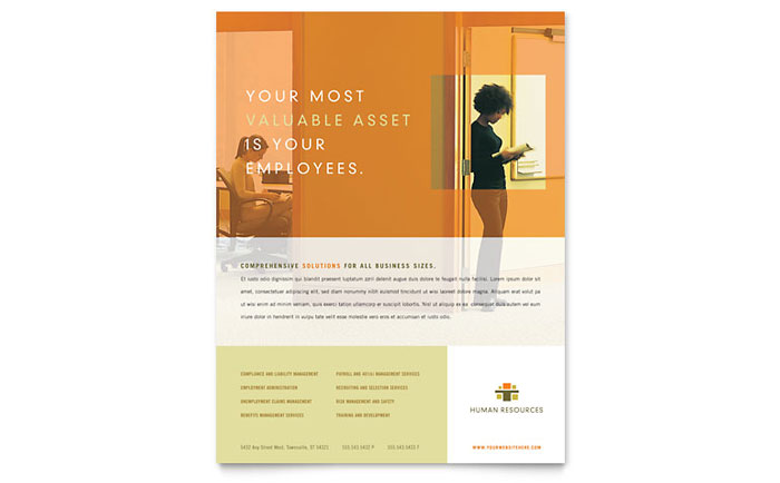 HR Consulting Flyer Template - Word & Publisher