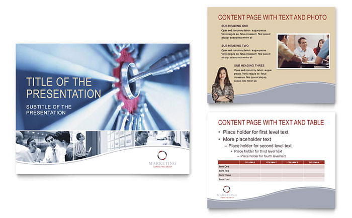 Marketing Consulting Group PowerPoint Presentation Template - PowerPoint