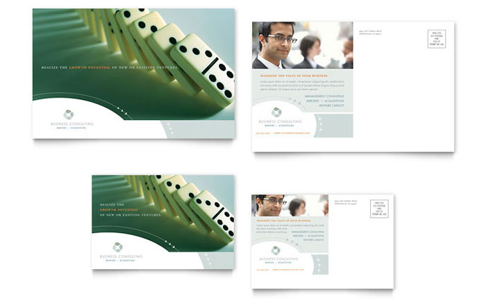 Business Consulting Postcard Template - Word & Publisher