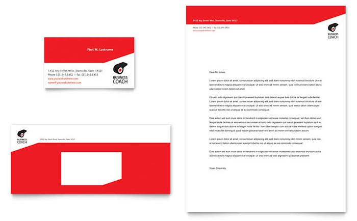 Business Executive Coach Business Card & Letterhead Template - Word & Publisher