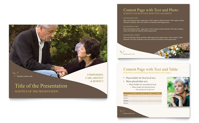 Memorial & Funeral Program PowerPoint Presentation - Microsoft PowerPoint Template