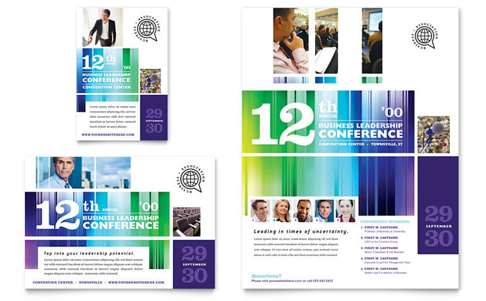 Leadership conference flyer ad word template publisher template