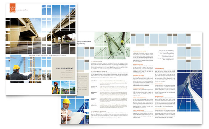 civil engineers brochure template word publisher. Black Bedroom Furniture Sets. Home Design Ideas
